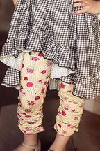 Mustard Pie Leila Legging with Strawberry Print (4 & 6X)