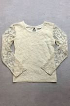 Mustard Pie Lottie Ivory Top Lace (18Mos,4T,4,6,6X,8)