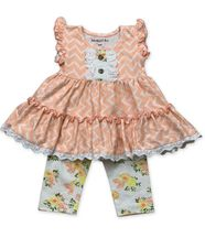 Mustard Pie Lucy Dress Honey Blossom (3Mos & 24Mos)
