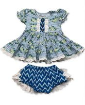 Mustard Pie Lucy Dress Set Nautical Summer (Size 24Mos)