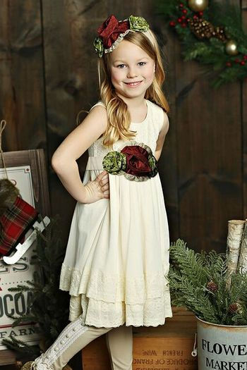 Mustard Pie Mabel Dress Holiday (Size 2T)