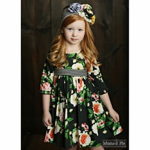 Mustard Pie Omni Dress in Floral (Size 2T)