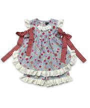 Mustard Pie Strawberry Field Eloise Set (Size 7)