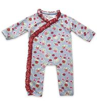 Mustard Pie Strawberry Fields Emmie Romper for Infants (Size 9Mos)