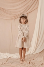 NoraLee Rose Striped Chloe Dress (Size 10)