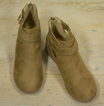 On The Edge Girls Bootie in Tan (11,12,13)