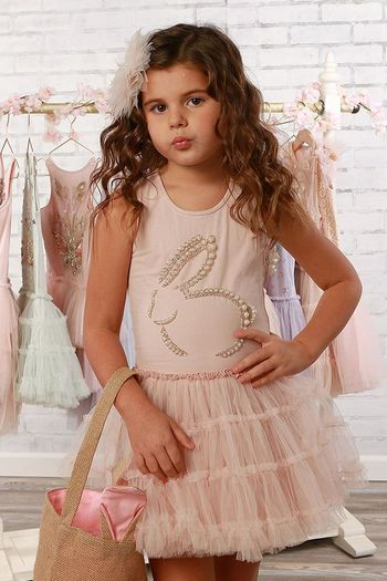 Ooh La La Couture Bunny Dress in Pink (Sizes 2T to 14)