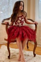 Ooh La La Couture Fleur Emma Dress in Red
