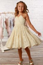 Ooh La La Couture Lace India Party Dress for Girls Ivory (4,5,6,8)
