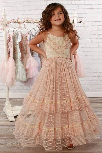 Ooh La La Couture Lyric Maxi Dress in Pink (Sizes 6X to 14)