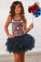 Ooh La La Couture Nelly 4th July Dress in Navy