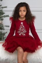 Ooh La La Couture Noel Red Dress for Toddlers (Size 4T)