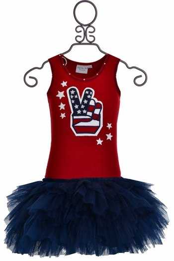 Ooh La La Couture Red White and Blue Dress SOLD OUT