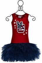 Ooh La La Couture Red White and Blue Dress (12Mos,18Mos,14)