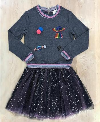 Out Of This World Top And Skirt (2T,6,6X)