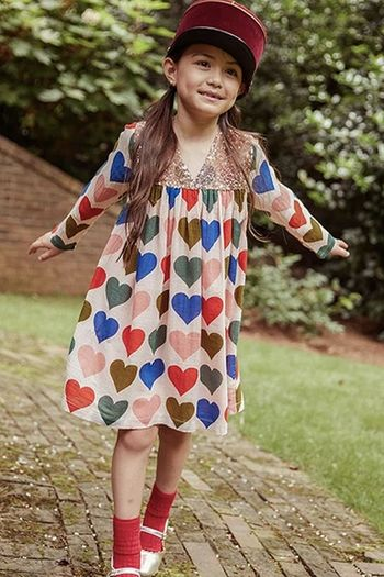 Pink Chicken Courtney Dress with Hearts (SOLD OUT)