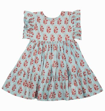 Pink Chicken Kit Dress In Vintage Floral (3T,7,8,10)