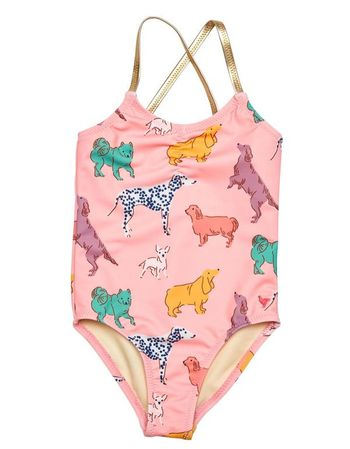 Pink Chicken Rose Dog Swimsuit (Size 2T)