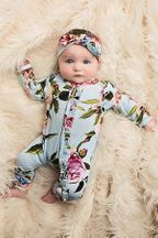 Posh Peanut Country Rose Snap One Piece (Size 0-3Mos)