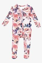 Posh Peanut Dusk Rose Footie Zippered (Sizes NB to 18Mos)