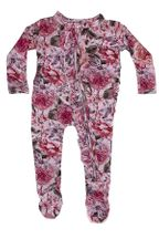 Posh Peanut Elise Floral Footie Ruffled Zipper