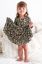 Posh Peanut Lana Leopard Twirl Dress (4T & 5)