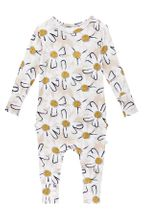Posh Peanut  Long Sleeve Romper Maxine (Sizes 3Mos to 24Mos)