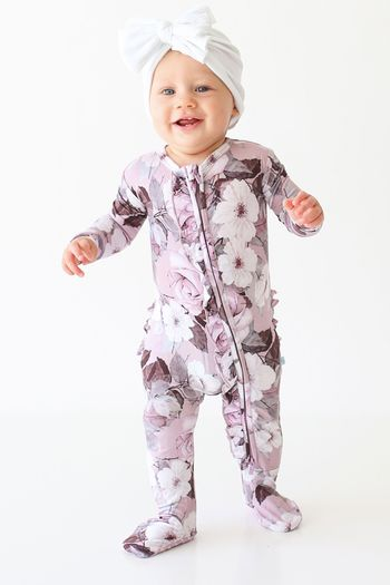 Posh Peanut Nikki Footie Zippered One Piece (Sizes 0 to 18Mos)