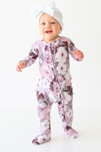 Posh Peanut Nikki Footie Zippered One Piece (0-3Mos,6-9Mos,9-12Mos,12-18Mos)