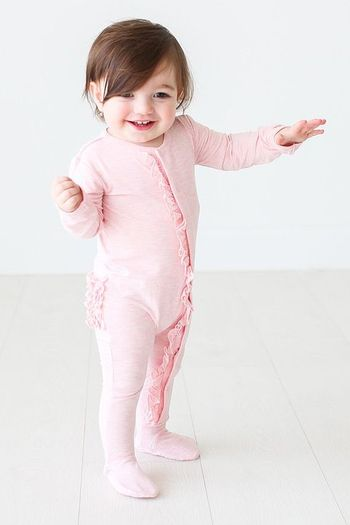 Posh Peanut Pink Heather Footie Snap One Piece SOLD OUT