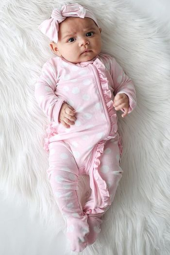 Posh Peanut Pink Polka Dot One Piece SOLD OUT