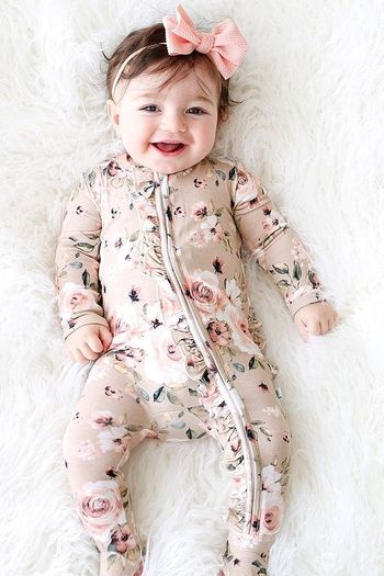 Posh Peanut Sienna Floral Footie with Zipper SOLD OUT