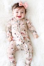 Posh Peanut Sienna Floral Footie with Zipper (Size 18-24Mos)