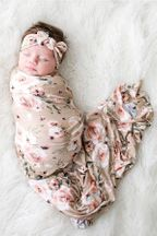 Posh Peanut Sienna Floral Swaddle Headwrap Set