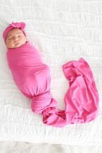 Posh Peanut Very Berry Infant Swaddle and Headwrap Set
