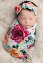 Posh Peanut Wild Flowers Blanket and Headband