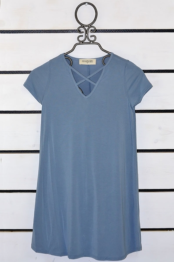 PPLA Criss Cross Dress in Blue