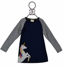 Prancing Unicorn Dress (2T,3T,5)