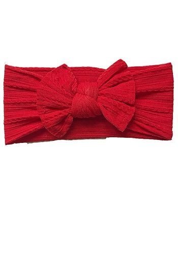 Red Cable Headband Nylon for Baby