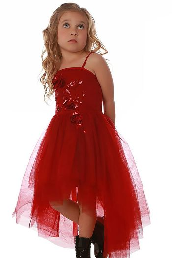 Ooh La La Couture Red High Low Holiday Dress (10 & 12)