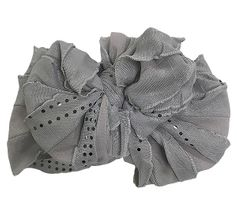 Ruffle Headband Grey Sequin