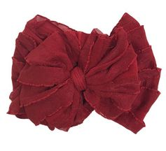 Ruffled Headband in Red
