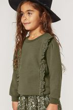 Ryle and Cru Scarlet Pullover in Forest