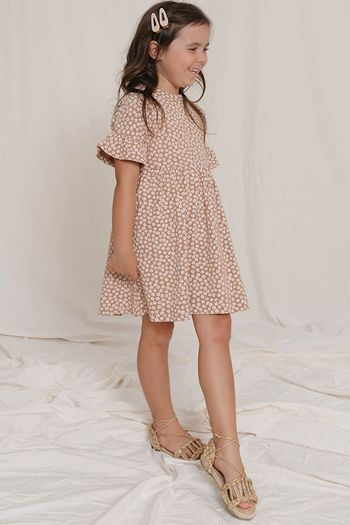 Rylee and Cru BabyDoll Dress Terracotta (Sizes 3Mos to 3)