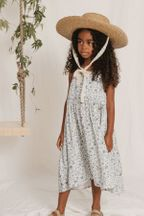 Rylee and Cru Blue Floral Maxi Dress (Sizes 12Mos to 14)