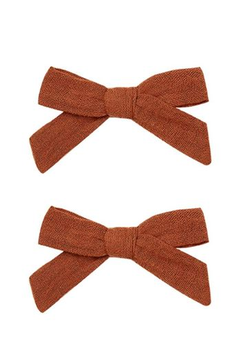 Rylee and Cru Bow Clips in Amber