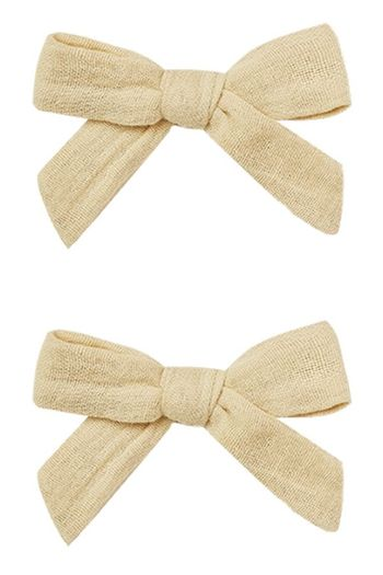 Rylee and Cru Bow Clips in Butter