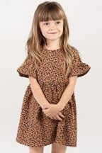 Rylee and Cru Cheetah Babydoll Dress (6-12Mos,12-18Mos,8-9)