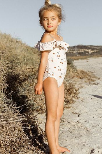 Rylee and Cru Cherries Off the Shoulder Swim SOLD OUT