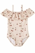 Rylee and Cru Cherries Off the Shoulder Swim (Size 10-12) Alternate View